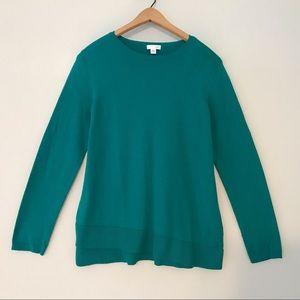 J. Jill Teal Sweater S